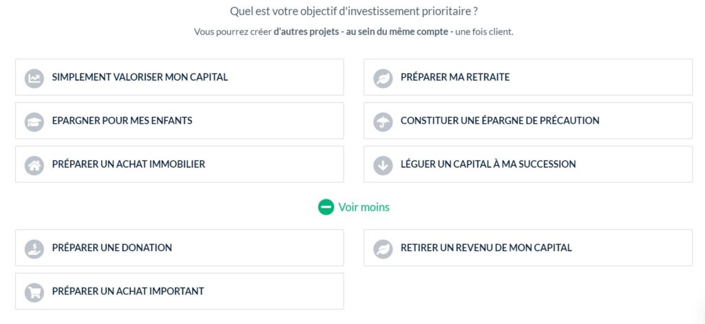 Choix du projet d'investissement
