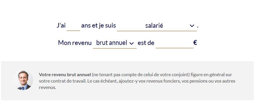 simulation assurance vie - profil investisseur Nalo